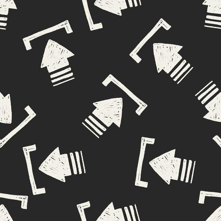 keywords backdrop: Doodle seamless pattern background Illustration