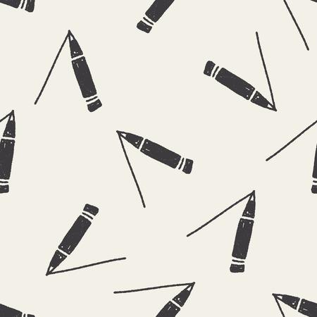 keywords backdrop: Doodle Pencil seamless pattern background