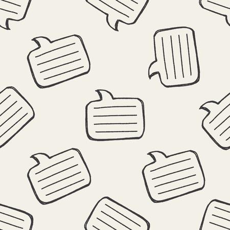 keywords backdrop: Doodle Dialog seamless pattern background Illustration