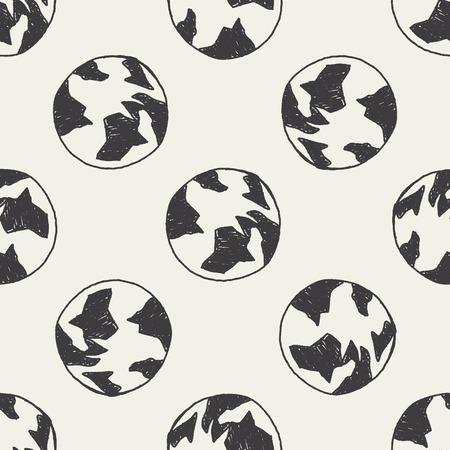 keywords backdrop: Doodle Globe seamless pattern background Illustration