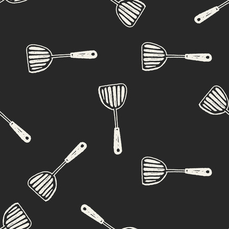 Doodle  culinary  spoon seamless pattern background Illustration