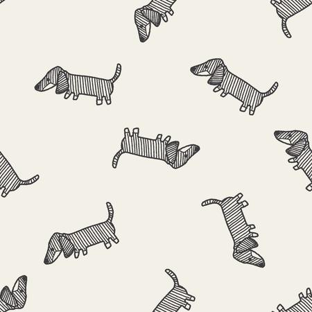 dog pen: Doodle Dog seamless pattern background