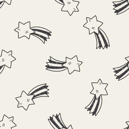 meteor: Doodle Meteor seamless pattern background