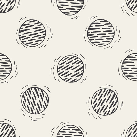 Doodle Planet seamless pattern background Vector