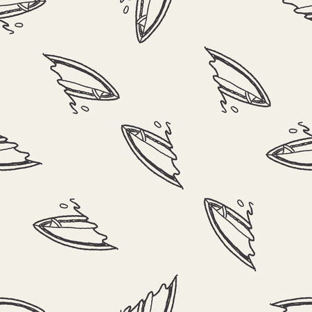 Doodle Surf seamless pattern background Vector
