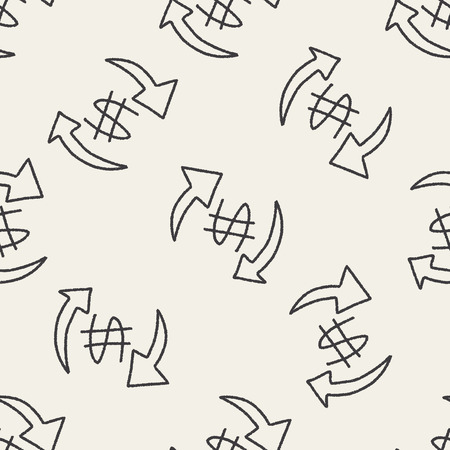 bussiness: bussiness doodle drawing seamless pattern background