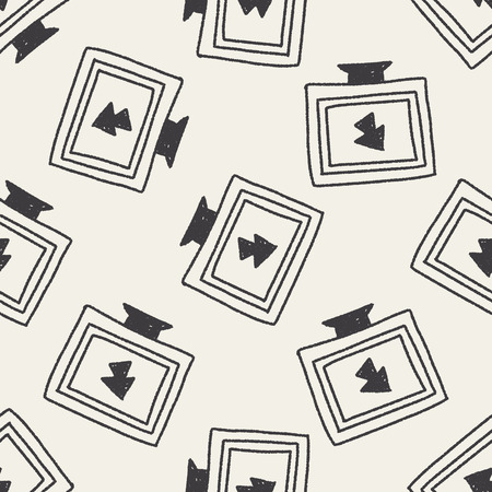 computer doodle drawing seamless pattern background Vector