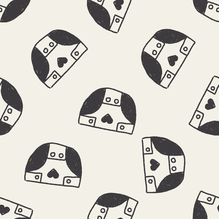 diapers: Diapers doodle drawing seamless pattern background Illustration