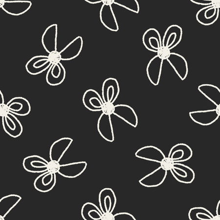 scissors doodle drawing seamless pattern background Vector