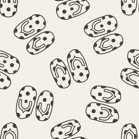 flip flop: flip flop doodle drawing seamless pattern background
