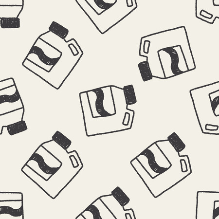 laundry detergent: Laundry detergent doodle drawing seamless pattern background Illustration