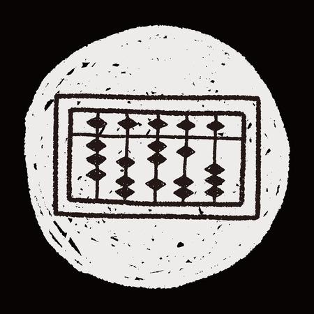 compute: doodle abacus Illustration