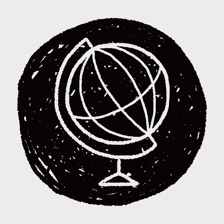 doodle globe Stock Vector - 37969723