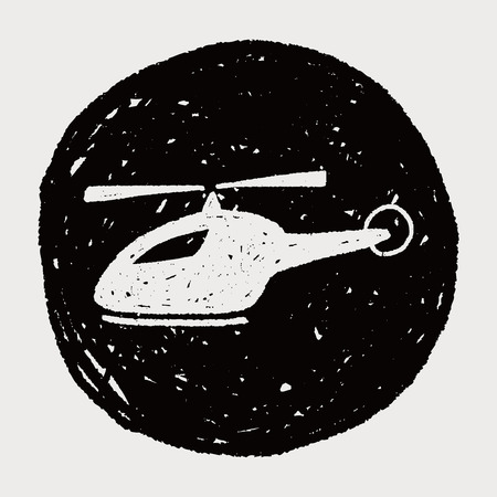 doodle helicopter Vector