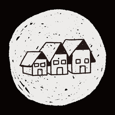 houses: Doodle Houses Illustration