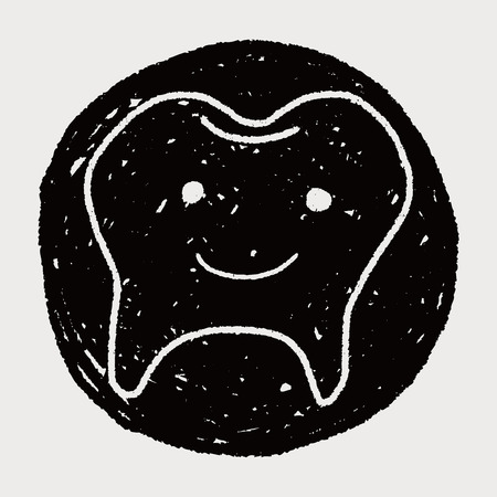 Doodle Tooth Illustration