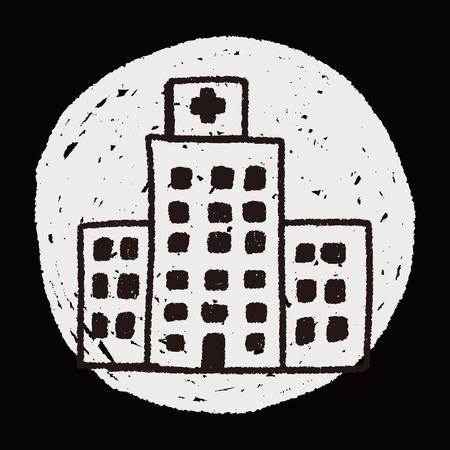 Doodle Hospital Vector