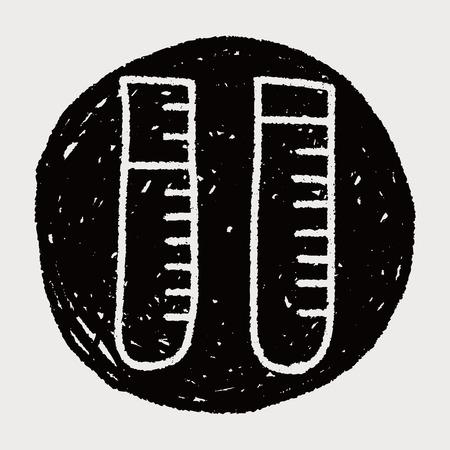 test tubes: Doodle Test tubes