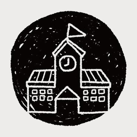 edificio escuela: Doodle de la escuela