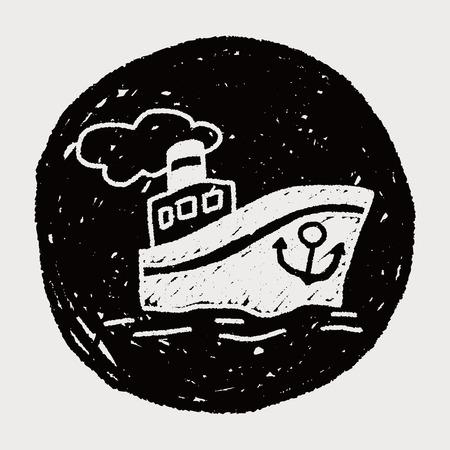 steamship: doodle Stoomschip
