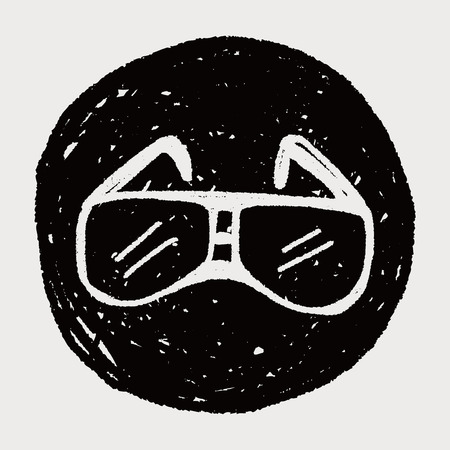 Doodle Glasses Vector