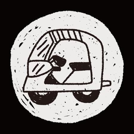 Doodle Motorbike Vector