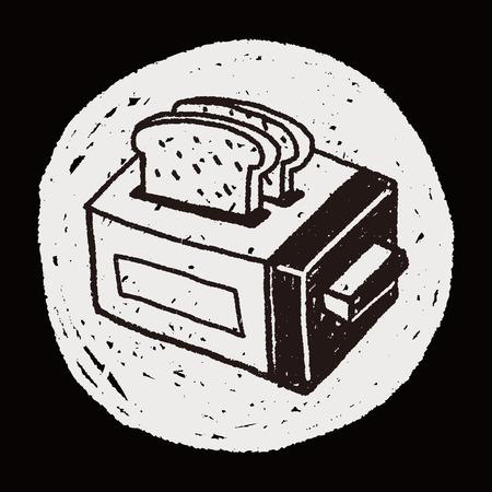 Doodle Toaster Illustration