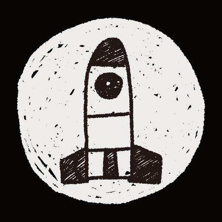 missile: Missile doodle drawing Illustration