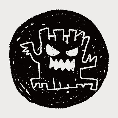 halloween tree doodle drawing Vector