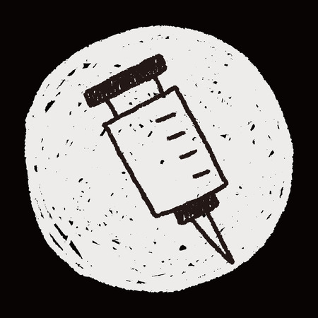 syringes: Syringes doodle drawing Illustration