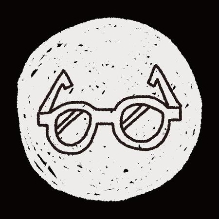doodle eye glasses Illustration