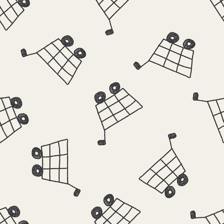 hand cart: doodle shopping cart