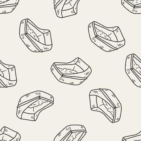 litter: doodle cat litter seamless pattern background