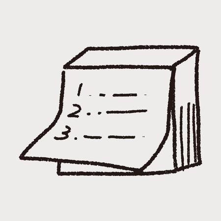 doodle note Illustration