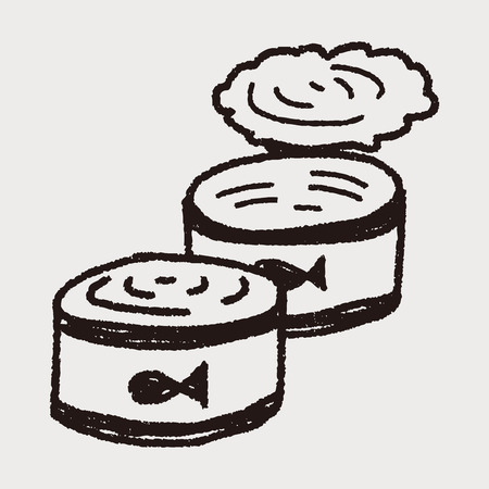 canned food: doodle fish can Illustration