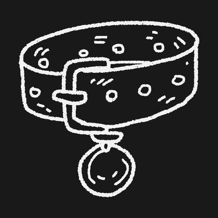 collar: doodle pet collar Illustration