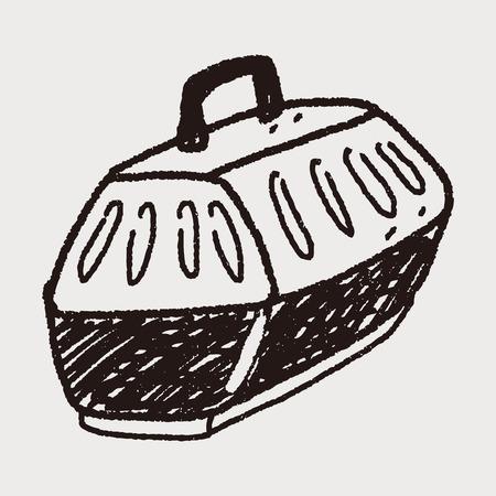 doodle pet carrier Vector