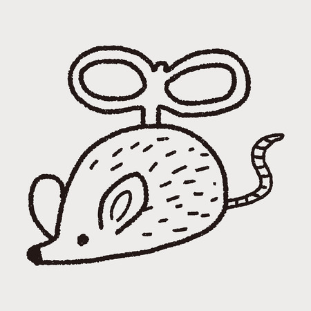 cat drawing: doodle toy mouse