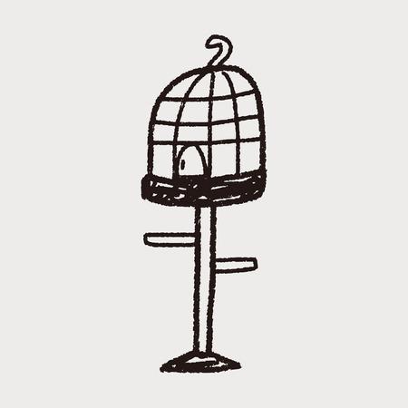 birdcage: doodle birdcage
