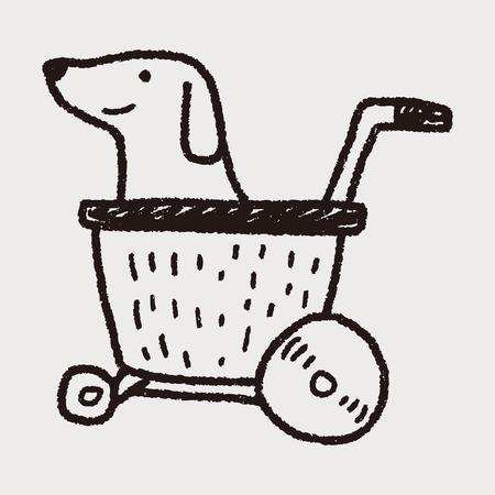 stroller: doodle dog stroller