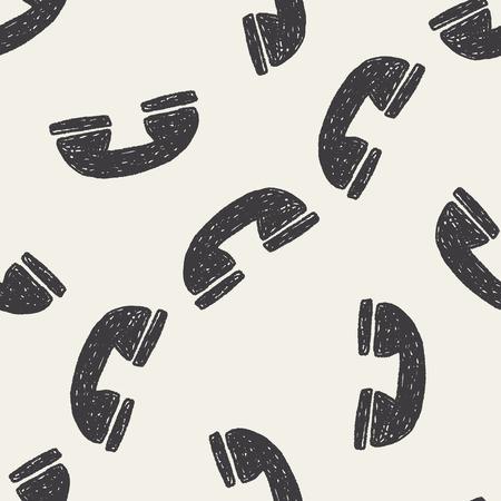 keywords  backdrop: Doodle phone seamless pattern background Illustration