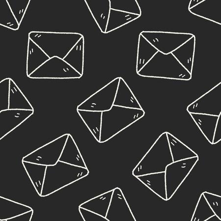 keywords  backdrop: Doodle Mail seamless pattern background