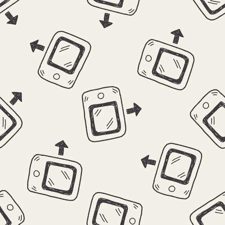 doodle phone seamless pattern background Vector