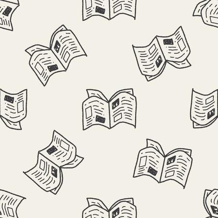 krant doodle naadloze patroon achtergrond