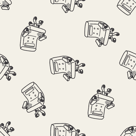 ergonomic: doodle chair seamless pattern background