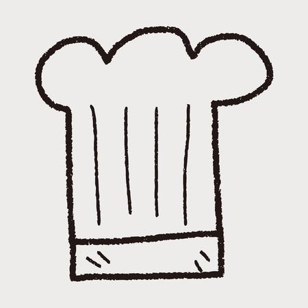 요리사 모자 낙서