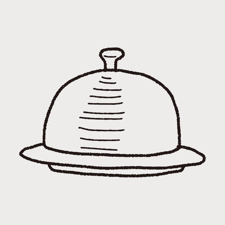 food tray: food tray doodle Illustration
