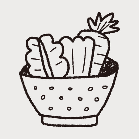 サラダの落書き