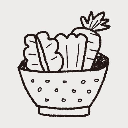 salade doodle Stock Illustratie