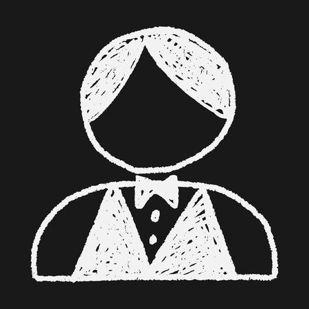 waiter tray: waiter doodle